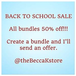 BACK TO SCHOOL SALE - 2 for 1!